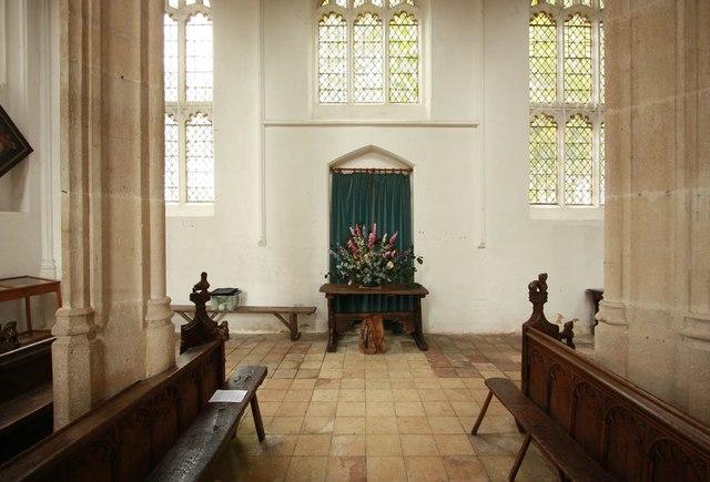 St Nicholas, Denston - Interior