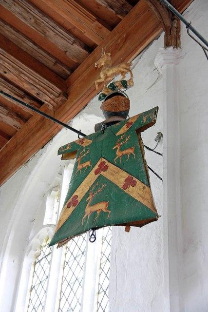 St Nicholas, Denston - Helm & tabard