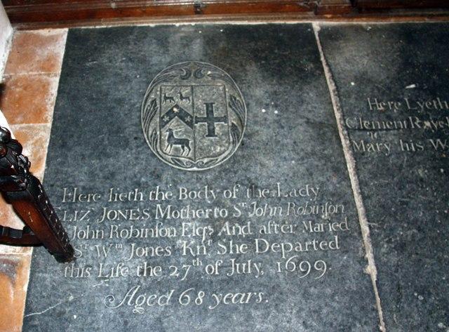 St Nicholas, Denston - Ledger slab