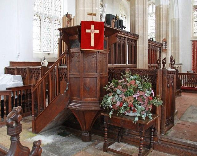 St Nicholas, Denston - Pulpit
