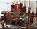 TL7652 : St Nicholas, Denston - Pulpit by John Salmon