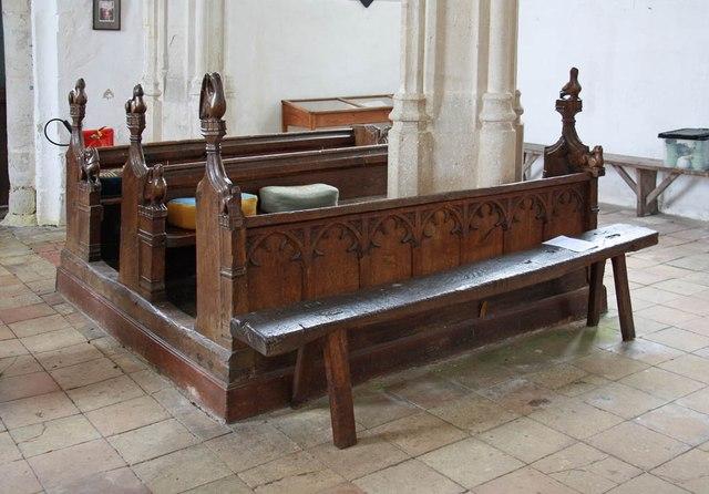 St Nicholas, Denston - Pews and bench