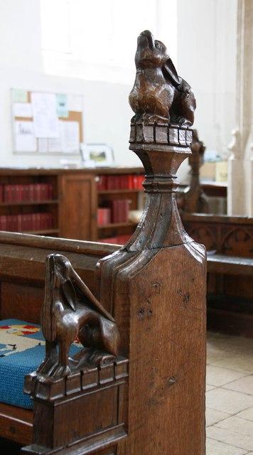 St Nicholas, Denston - Bench end