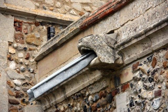 St Nicholas, Denston - Water spout
