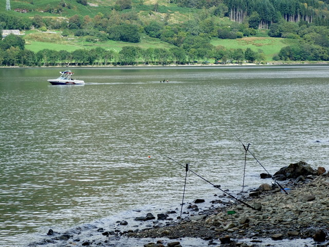 Fishing rods on south Loch Earn