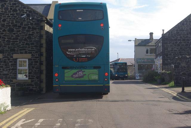 Buses at Craster