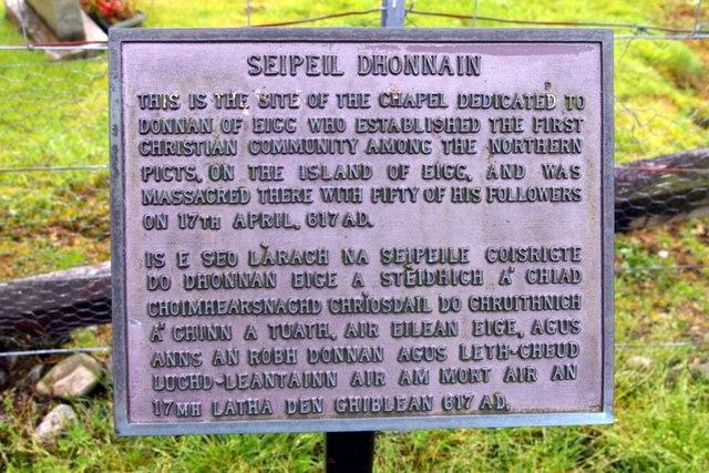 Seipeil Dhonnain (St Donnan's Chapel)