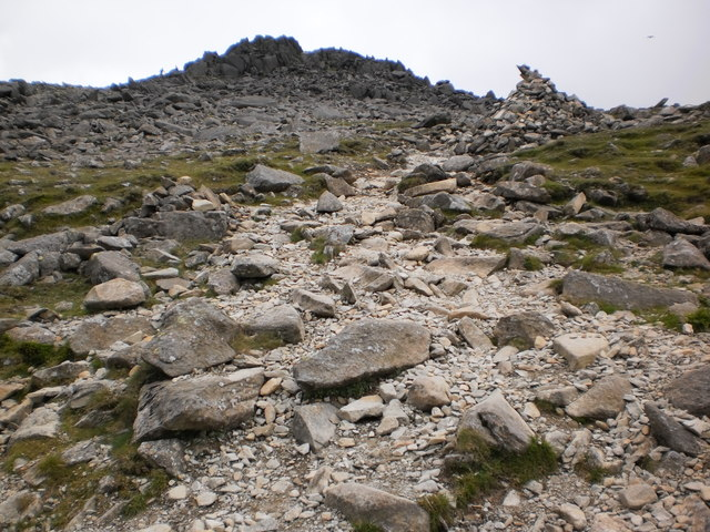 Final stretch of path leading to Bowfell summit