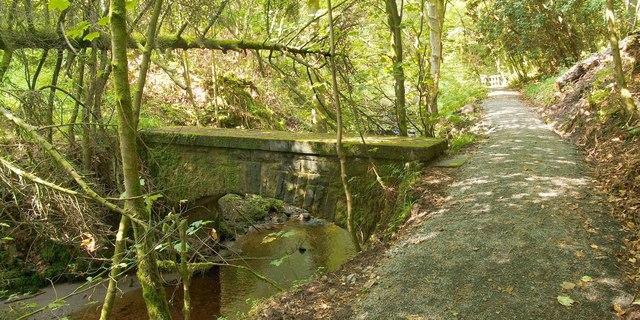 Footbridge over the Overtoun Burn