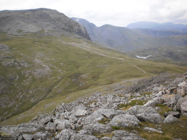 Descent to Esk Hause