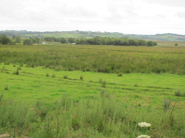 View from cycle track towards Cors Caron