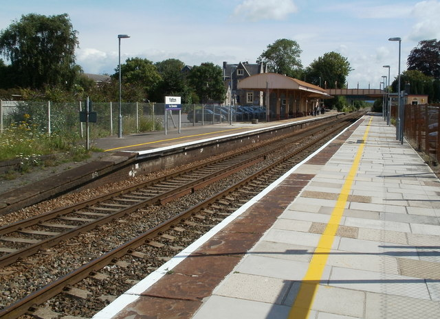 Yatton railway station viewed from the south