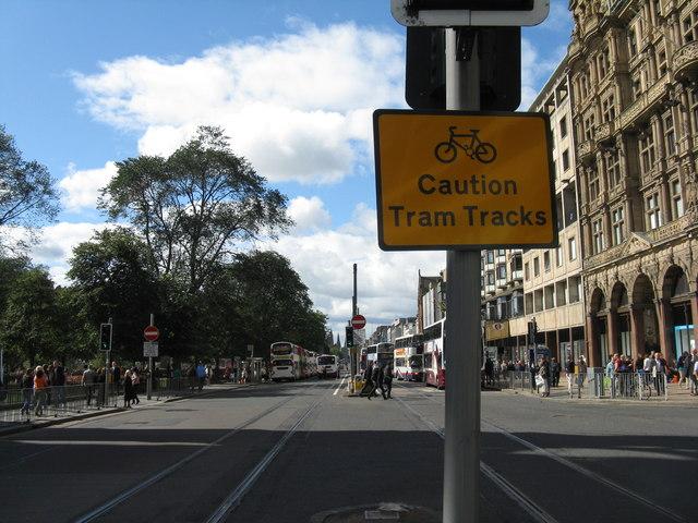 Caution - Tram Tracks