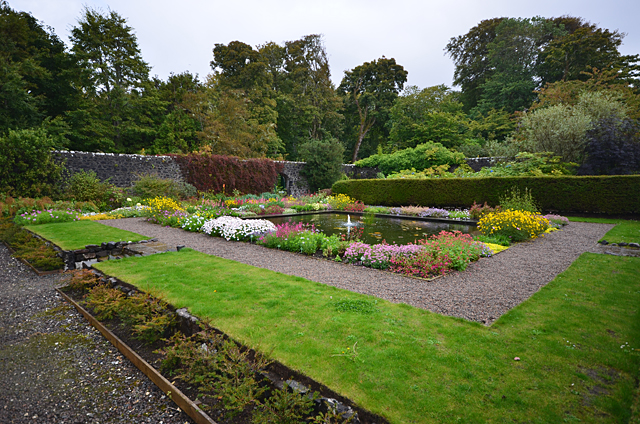 Pond in Dunvegan Castle Gardens