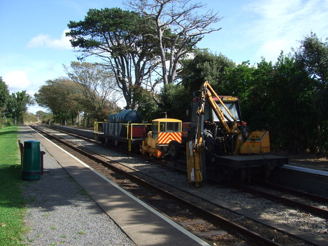Line maintenance train at Colby Station