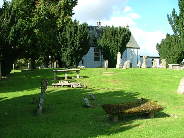 Trinity Gask Church and graveyard