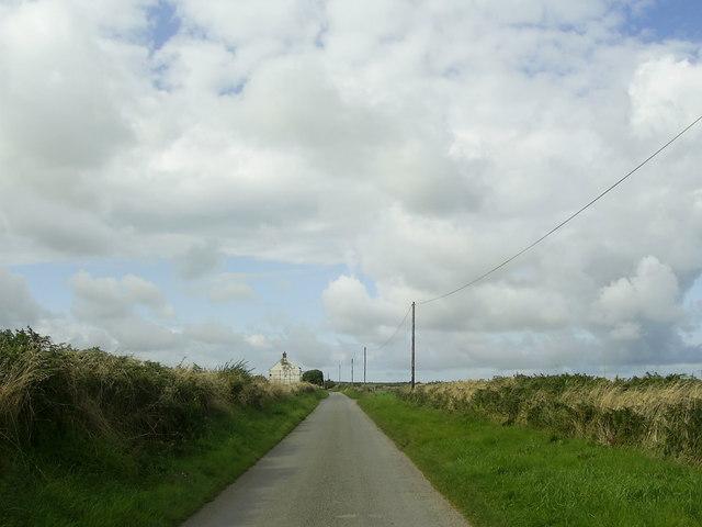 Country road near Pont-yr-Hafod