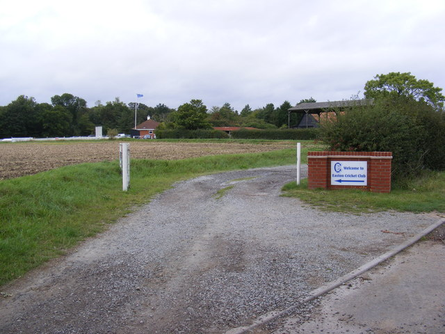 The Entrance to Easton Cricket Club