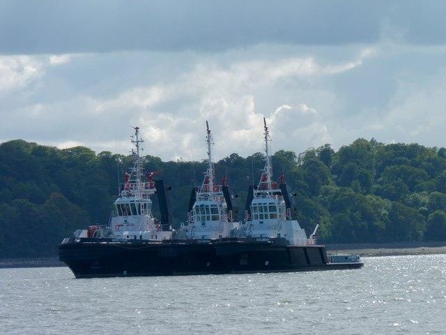 Three tugs