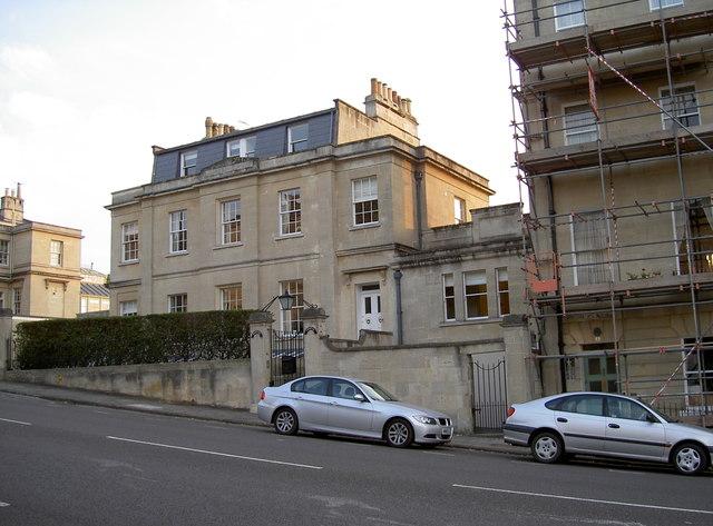 Georgian housing along Bathwick Hill