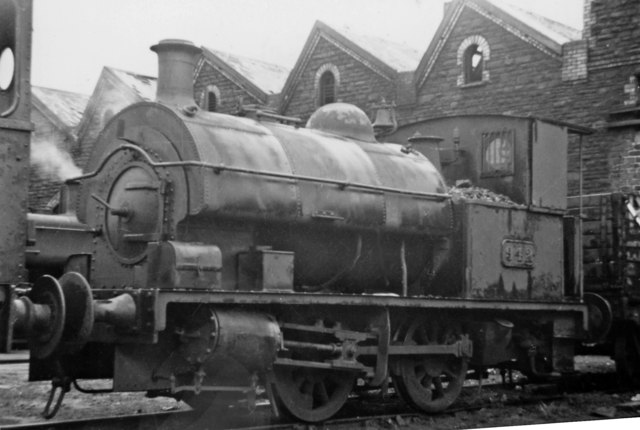 Danygraig Locomotive Depot, with ex-Powlesland & Mason dock tank