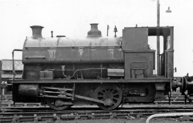 Ex-Swansea Harbour Trust 0-4-0T at Danygraig Depot
