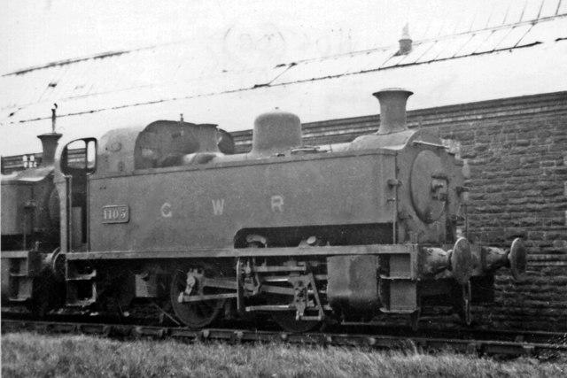 Collett GWR 0-4-0 Dock Tank at Danygraig Depot