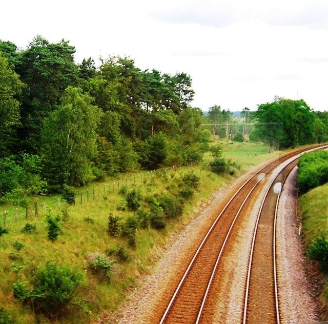 Railway line north of Thetford