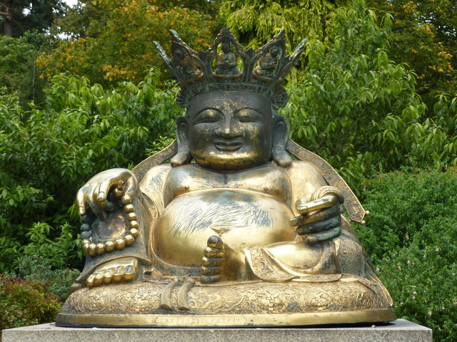 Statue of Buddha in the grounds of Sandringham, Norfolk