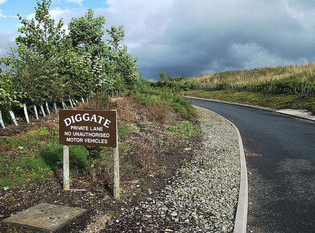 Entrance to Diggate Farm