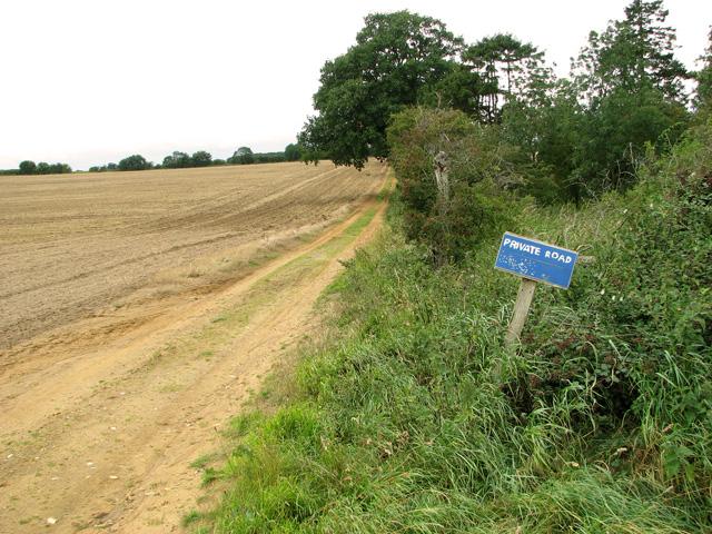 Private road to Sandpit Cottage, Middleton