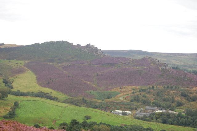 View towards Ramshaw Rocks