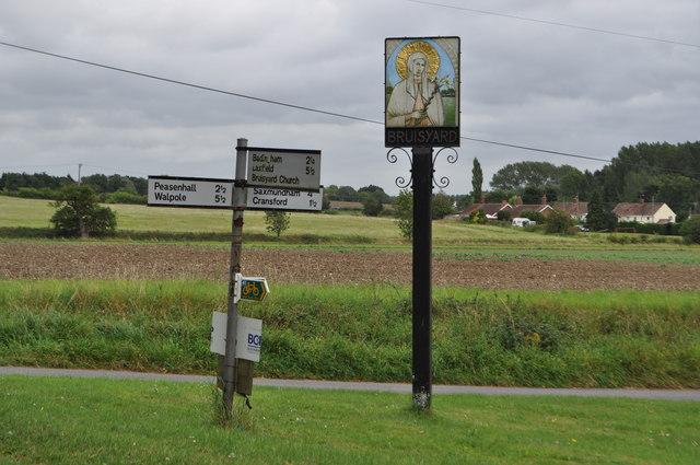 Bruisyard Village Sign