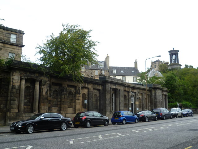 Wall of the Old Calton Burying Ground, Waterloo Place