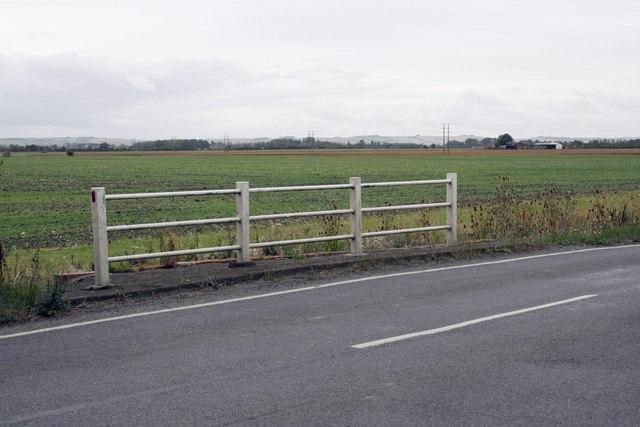 Culvert parapet on south side of Steventon Road