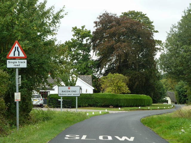 Entering Bacon End