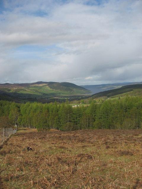 From the NE ridge of Sron Dubh