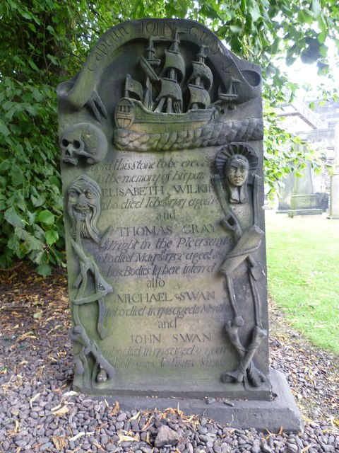 Captain John Gray's stone, Old Calton