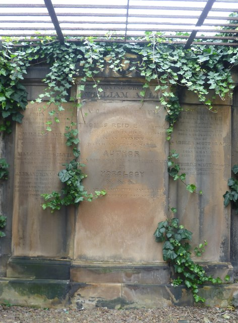 Grave of Thomas Reid, horologist