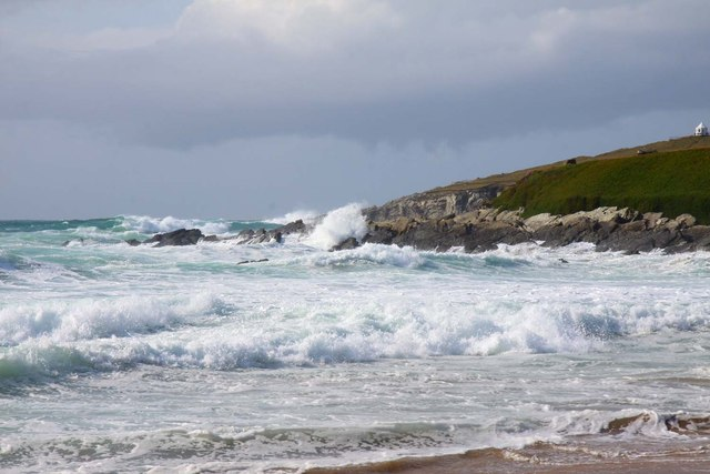 Rocky headland from Fistral Beach
