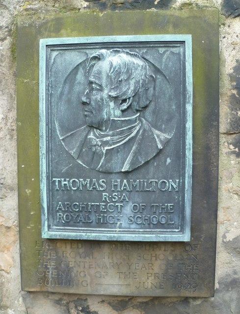 Thomas Hamilton plaque, Old Calton Burying Ground
