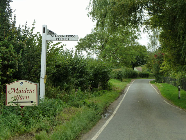 The way to Maidens Barn