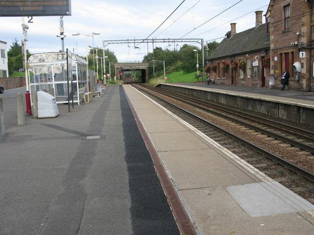 Uddingston railway station, looking East