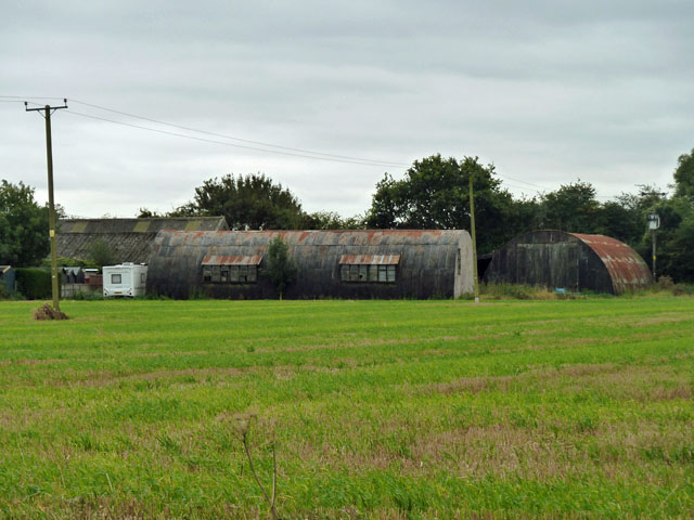 Nissen huts at Swallows Farm