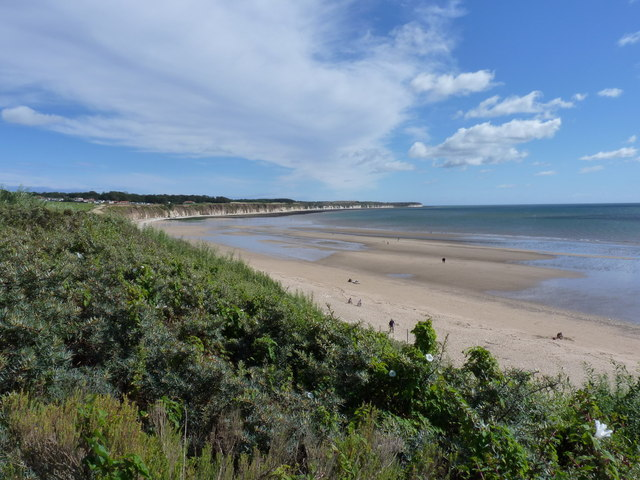 Bridlington North beach, and the cliffs beyond Sewerby