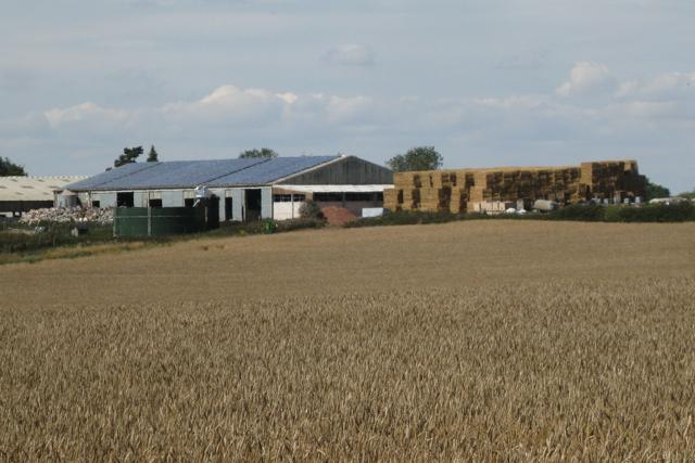 Solar panels on a barn roof, Berry Fields Farm
