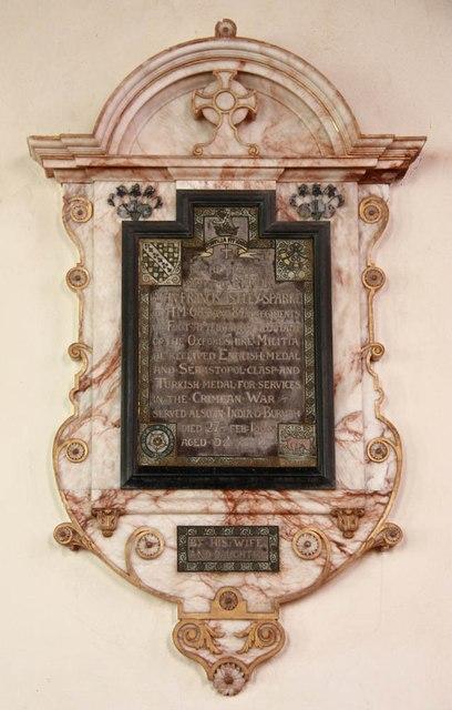 St Mary, Gunthorpe - Wall monument