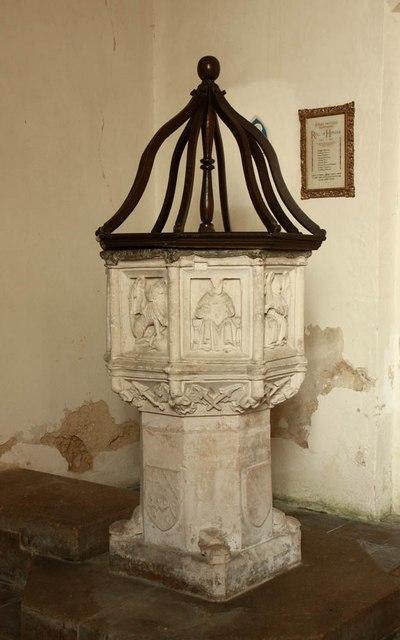 St Mary, Gunthorpe - Font
