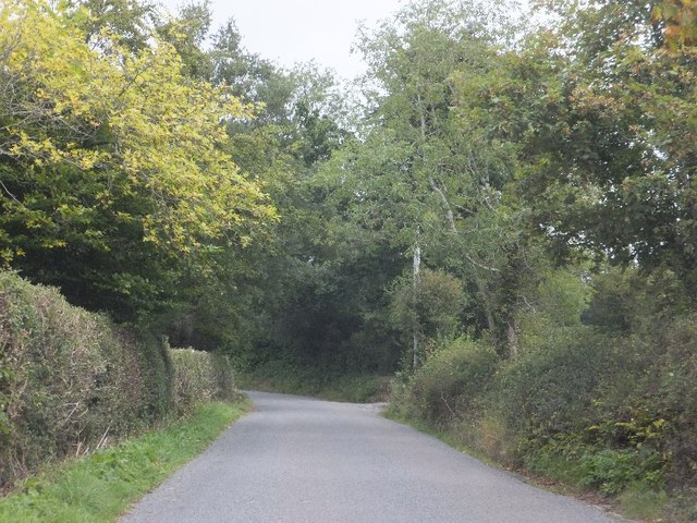 Old Exeter Road passing Oxencombe Farm