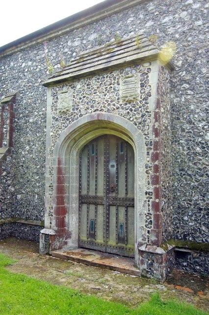 St Peter & St Paul, Heydon - North doorway